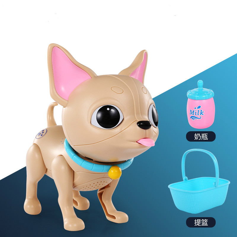 Simulation Electric Smart Feeding Dog Cat Pig Interactive Robot Glowing Eyes Pet Toy Sucking Milk Boys Girl Educational Toys