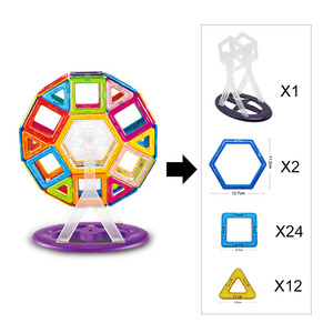 Image 5 - Big Size Magnetic Designer Magnet Building Blocks  Accessories  Educational Constructor Toys For Children