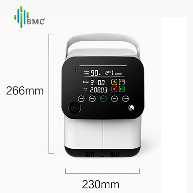 Image 2 - BMC Portable Oxygen Concentrator Mini Oxygen Machine 1 6L/min Adjustable For Sleep Air Purifier Household Health Monitor-in Oxygen Machine from Beauty & Health