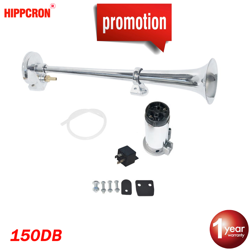 Car Air Horn Super Loud Single Trumpet Compressor Complete Set 150DB 12V for Trucks Cars Automobiles Lorry Boat Train(China)