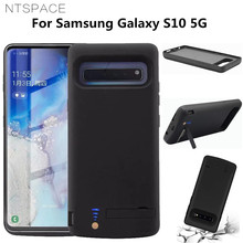 NTSPACE 6500mAh For Samsung Galaxy S10 5G Power Case External Battery Power Bank Charger Cases For Samsung S10 5G Battery Case 3500mah rechargeable li ion external battery power case w stand for samsung galaxy s5 black