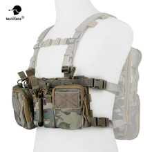 Army Tactical Vest Carrier Armor Chest Rig Harness Rifle Pistol Hanger Utility Belly Pouch CRH Hunting Equipment Accessory 5.56 h harness chest rig plate carrier tactical vest rifle 5 56 7 62x39 single double pistol flapped gp stuff pouches hunting men