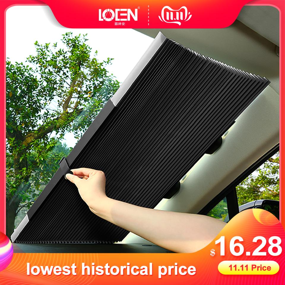 Car Window Sunshade Retractable Foldable Windshield Cover Sunshade Shield Curtain Auto Sun Shade Block Anti-UV Car Window Shade
