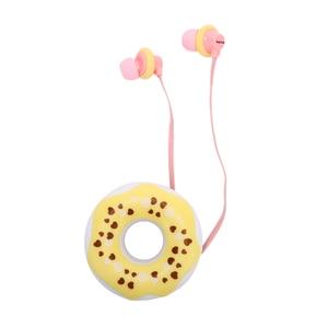 Image 4 - 1pcs 3.5mm In Ear Cute Earphones  Macarons Donut Cartoon Earphone Q17 White/Pink/Green/Blue/Black/Mint Green Portable Earplug