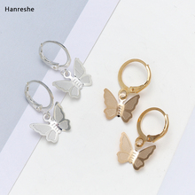 Fashionable Noble Gold And Silver Color Butterfly Earrings Women's Beautiful Star Jewelry Stud Earrings For Women Girls Gifts gold color with star hotpink butterfly star drop earrings