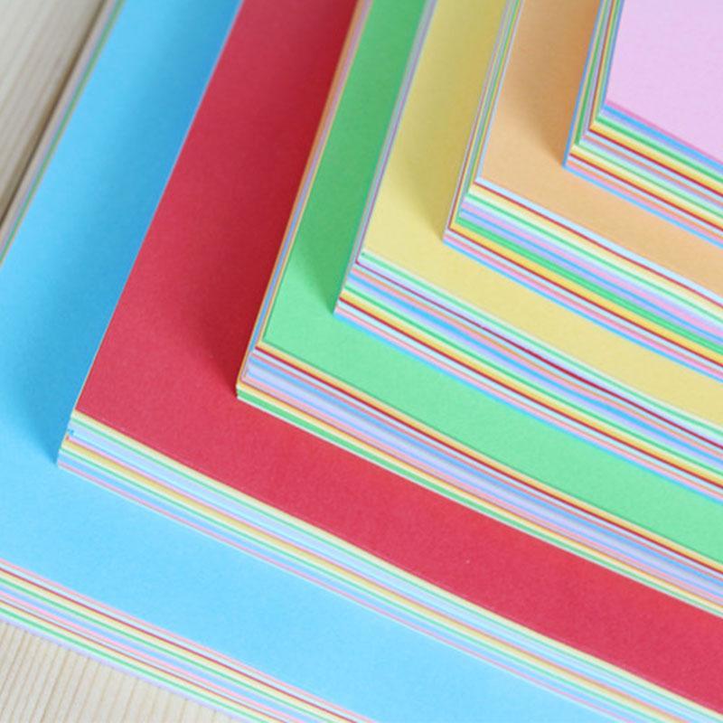 100pcs Square Origami Paper Double Sides Solid Color Folding Multicolor Kids Handmade DIY Scrapbooki
