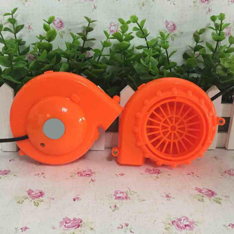 DC 6V Portable Mini Electric Fan Air Blower For Doll Mascot Head Gas Mode Cartoon Costumes Inflatable Energetic Orange Blower