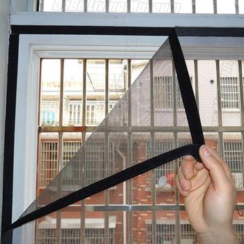 DIY moskitiera moskitiera na okno lato Anti-okno na komary moskitiera na windows ekran z włókna szklanego okno na komary netto niestandardowe tanie i dobre opinie KEDE Drzwi i okna ekrany Hook Loop Zapięcie