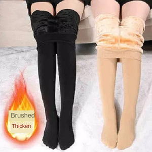 Tights Women's Winter Warm Sexy Tights Plus Size Pantyhose Thick Velvet Cashmere Opaque Colored Nylon Stretch Black High Tights