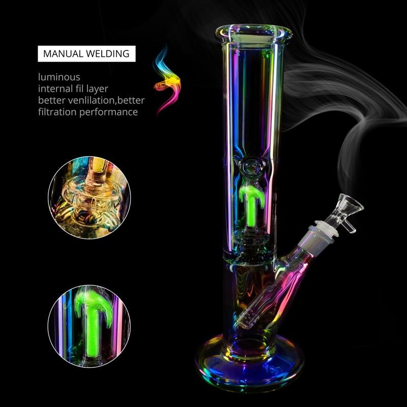 Luminous Glass Pipe Set Borosilicate Colorful Luminous Pipe Percolator