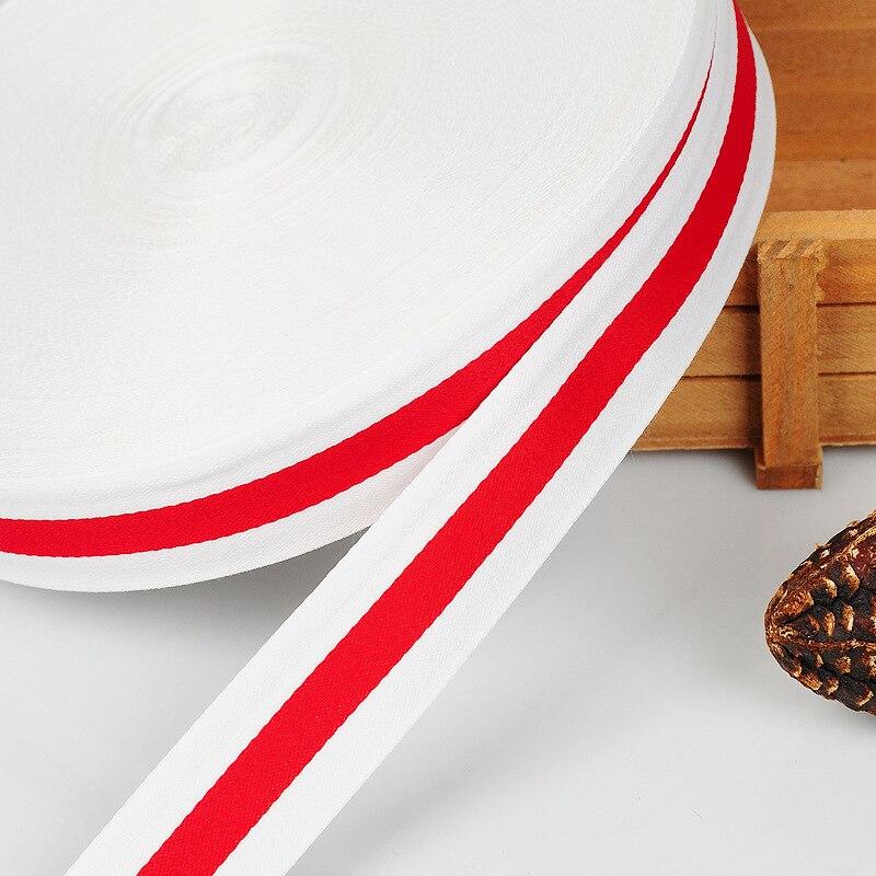 40mm 2m rússia bielorrússia branco e vermelho poliéster listrado gorgorão fita diy cinto roupas costura árvore de natal acessórios