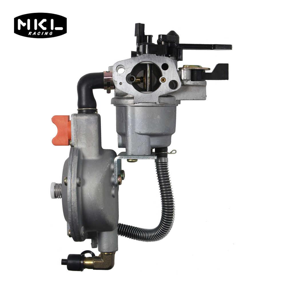 غاز البترول المسال و الغاز الطبيعي المضغوط المكربن ثلاثة طريقة تحويل عدة ل GX160 GX200 محرك البنزين و ليكفيلد ، المزدوج الوقود المكربن