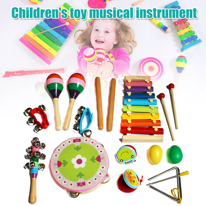 1 Set Musical Instrument Toy Xylophones Grip Bells Kit For Children Kids