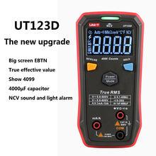 Multímetro Digital inteligente UT123D, medidor de corriente, voltaje, resistencia y capacitancia, RMS AC/DC, versión actualizada de UNI-T