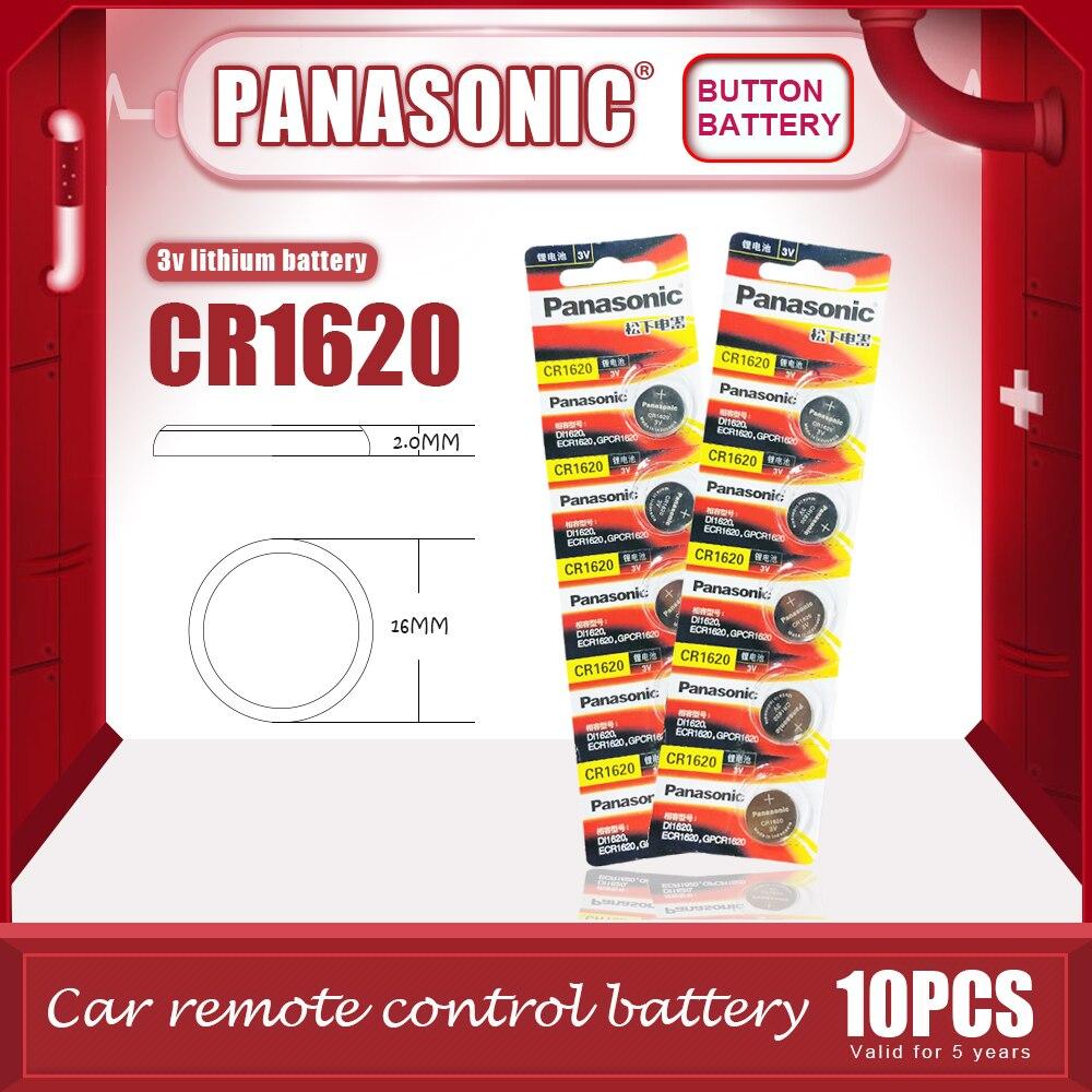10 шт./лот, оригинальный аккумулятор PANASONIC CR1620 с кнопками, 3 в, литиевые батареи CR 1620 для часов, игрушки, компьютерный калькулятор, управление
