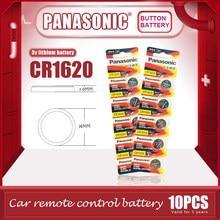 10 sztuk/partia PANASONIC oryginalny CR1620 przycisk baterii komórki 3V baterie litowe CR 1620 dla zegarek zabawki kalkulator komputerowy sterowania