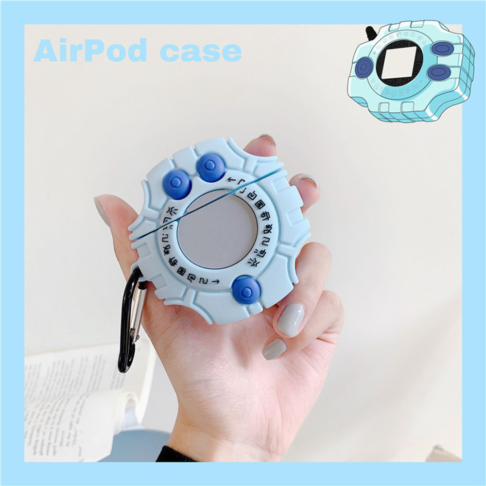 Cartoon Digimon Digital Monster Protective Earphone Case For Airpods 1 2 Soft Wireless Bluetooth Headset Case with Finger Ring(China)