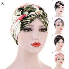 Chapeau indien à volants pour femmes, Musulman, chimio, Cancer, Turban, écharpe, couvre-tête islamique, perte de cheveux, 2020