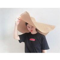 Fashion Large Sun Hat Beach Anti UV Sun Protection Foldable Straw Cap Cover Cap Hat 40sp10