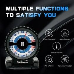 I-round LCD Gauge bezpośredni wtyk OBD LCD Racing Meter wielofunkcyjny RPM temperatura wody turbo dla BMW