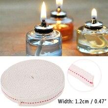 1roll 1.2cm*1.5m Oil Flat Cotton Wick for  Kerosene Burner Stove Lighting Lantern Oil Lamp Making