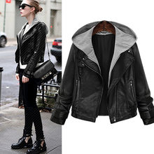 2019 Suit-dress Locomotive Leather Clothing Two Paper Even Jacket Loose Coat(China)