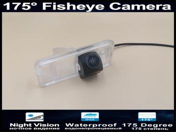 175 grados 1080P lente de ojo de pez Cámara de vista trasera del coche aparcamiento Cámara inversa para Hyundai IX45 2013, 2014 Santa Fe cámara de coche