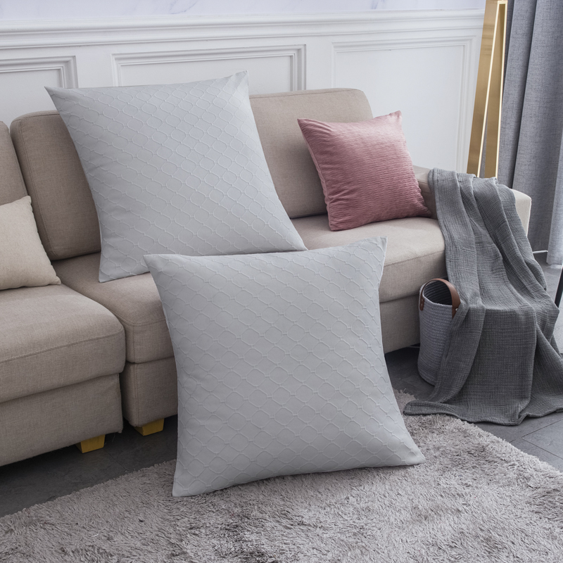 PHF 100% Cotton Matelasse Weave Euro Sham Cover Satin Pillowcase 66*66 Decorative Pillow Case For Home No Filling Cushion Cover