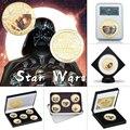 WR Звездные войны позолоченные Коллекционные монеты с коробкой из фильма памятная монета набор оригинальных монет подарки для мужчин Пряма...