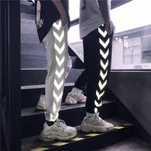 Светоотражающие брюки женские шаровары в стиле Харадзюку для