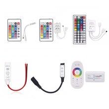 SMD 5050 3528 2835 RGB LED רצועת אור קלטת אביזרי DC 12V 24key / 44 מפתח RGB IR RF שלט רחוק עבור RGB led הרצועה