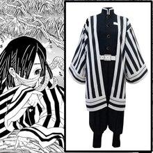 Аниме «Demon Slayer», Kimetsu No Yaiba, костюмы для косплея, Iguro Obanai, костюм для косплея, кимоно для Хэллоуина, ткань, клинок демона, комикс