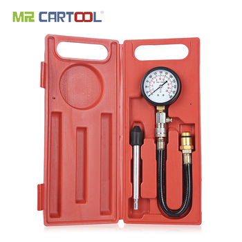 цена на MR CARTOOL G324 0-300PSI Compression Engine Cylinder Tester Gasoline Pressure Gauge Tester Kit  Car Diagnostic Tool