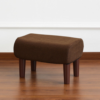 Rectangle Padded Ottoman Foot Stool Footrest Living Room or Bedroom Furniture Mid Century Modern Wood Legs Stool Upholstered free shipping pu foot square stool with storage space living room ottoman children stool kids storage box footrest