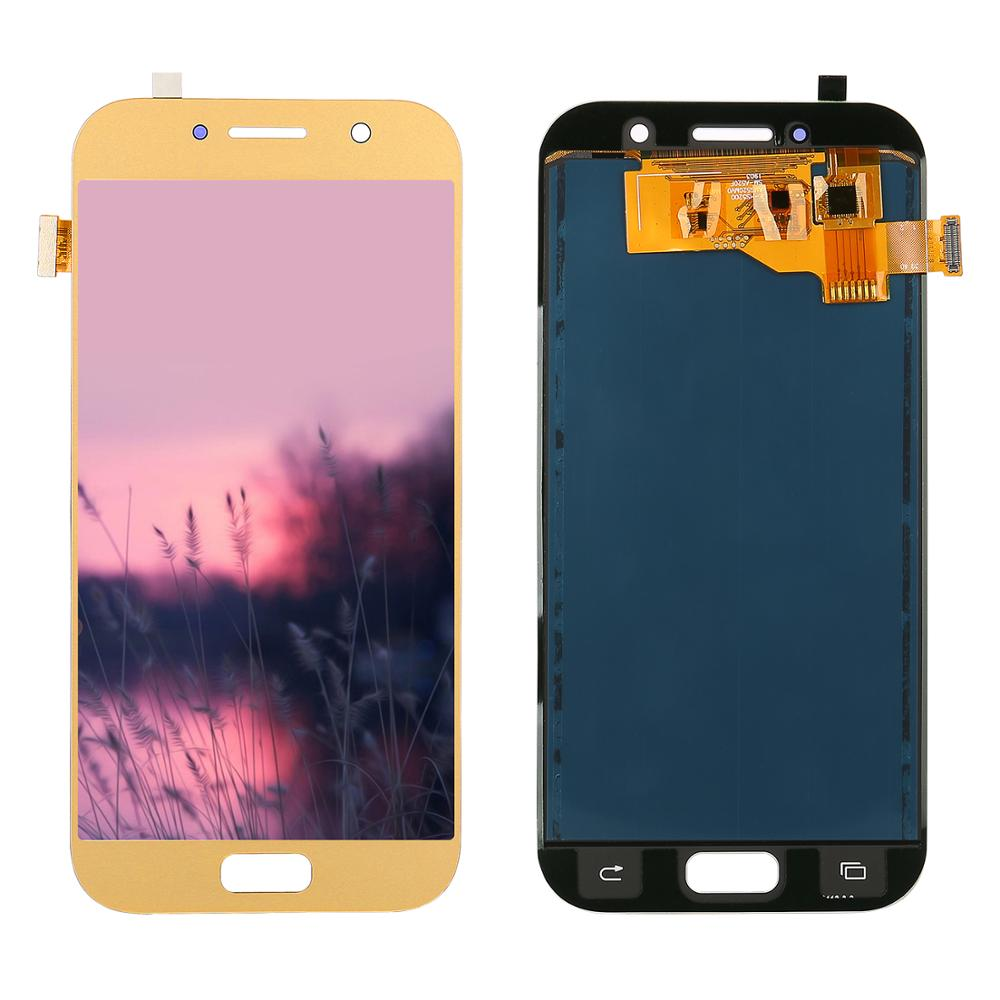 Adjustable Brightness LCD For Samsung Galaxy A5 2017 Display A520F SM-A520F A520 LCD Display + Touch Screen Digitizer Assembly