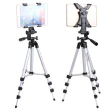 цена на Professional Tablet Stand Camera Tripod Stand Holder for iPad 2 3 4 Mini Air Pro Protable Tripod For for Samsung /DSLR Camera
