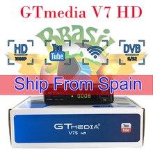 DVB S2 freesat V7S HD Receptor Support Europe Spain cccam Cline BR Satellite Receiver gtmedia V7 HD Decoder Brazil cccam server