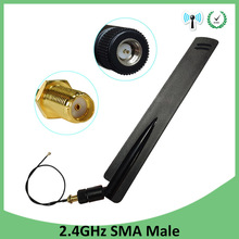 5pcs 2.4Ghz Wifi antenna 8dbi SMA Male  Omni-Directional 2.4 ghz antenne Router wi fi Antena +21cm RP-SMA Male Pigtail Cable цена и фото