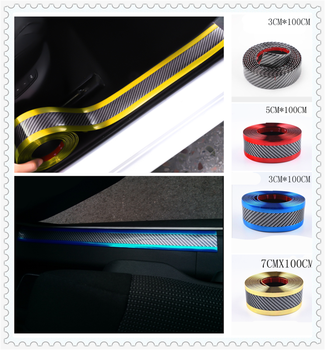Car sill strip anti-tread sticker modified carbon fiber bumper parts for BMW M8 M550i M550d M4 M3 E92 E38 E91 E53 E70 X5 M M3 image