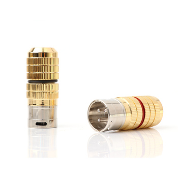 4 Uds Yter CG chapados en rodio enchufes XLR balance conector de cable