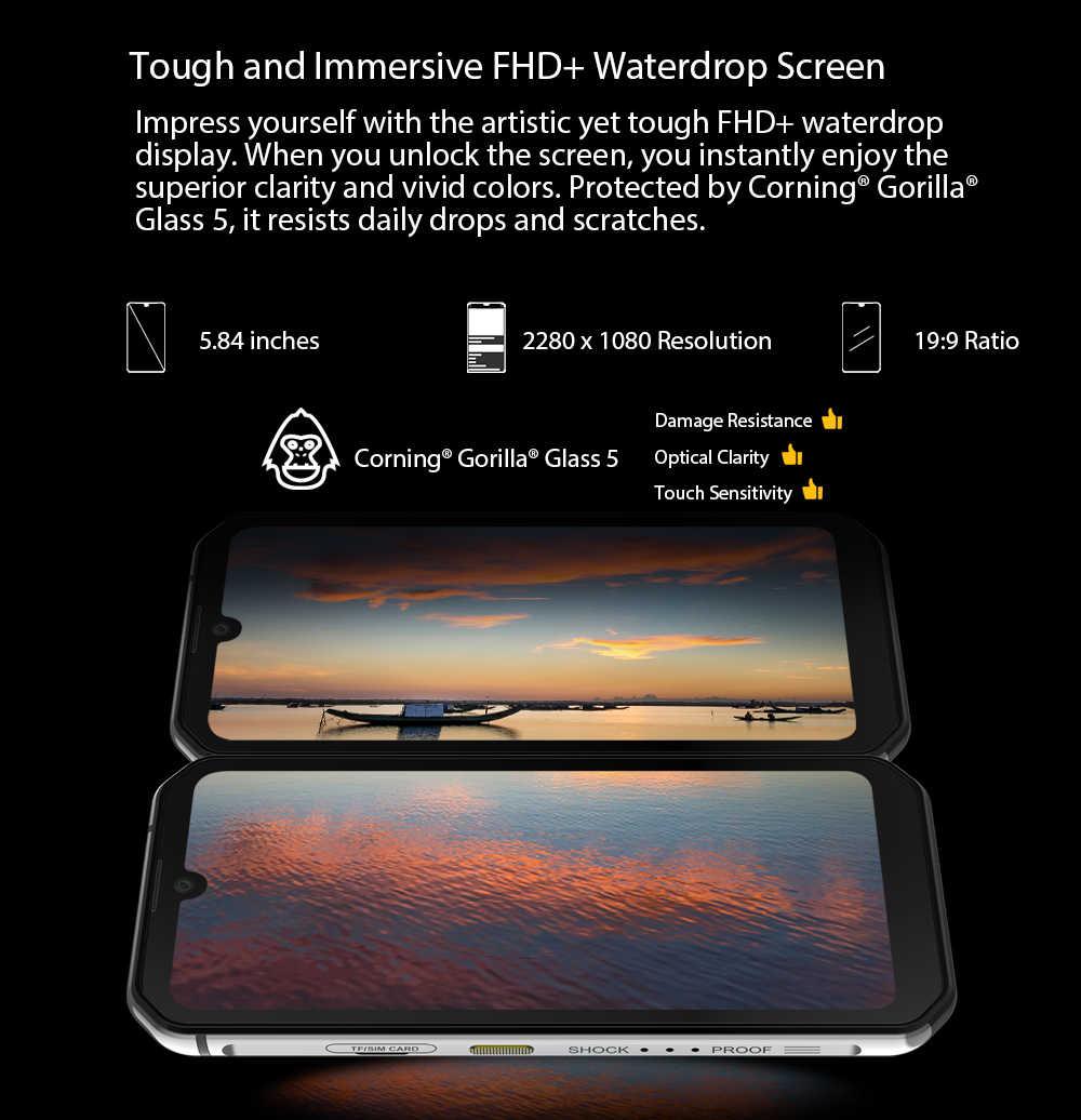 Blackview BV9900 Helio P90 אוקטה Core 8 + 256GB IP68 מוקשח נייד טלפון אנדרואיד 9.0 48MP Quad אחורי מצלמה NFC Smartphone הגלובלי 4G