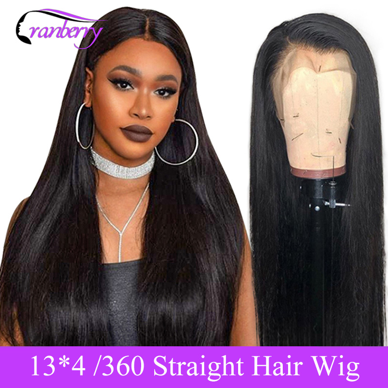 Cranberry Straight Lace Front Human Hair Wigs Pre Plucked Hairline 13X4 Lace Front Wig 360 Lace Frontal Wig Brazilian Remy Wigs