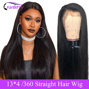 Прямые кружевные фронтальные волосы Cranberry, накладные волосы 13X4 на фронтальную прядку, волосы на прядную прядку, волосы на фронтальной части ...