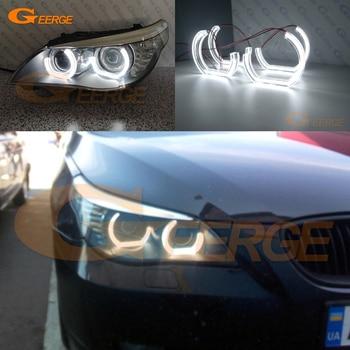 цена на For BMW E60 E61 LCI 550i 545i 530i 528i 535i XI M5 2008-2010 Xenon headlight Ultra bright DTM M4 Style led Angel Eyes kit DRL