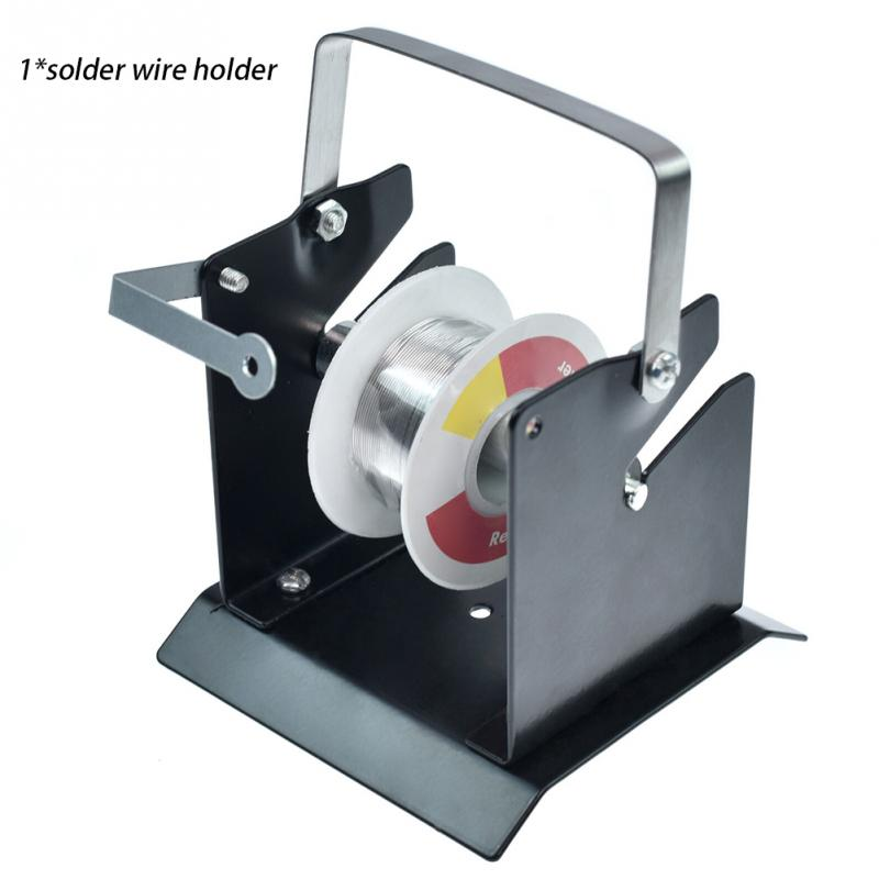 Easy Operate Adjustable Support Mini Stand Solder Wire Holder Iron Structure Welding Tool Spool Feeder Tin Manage Reel Dispenser