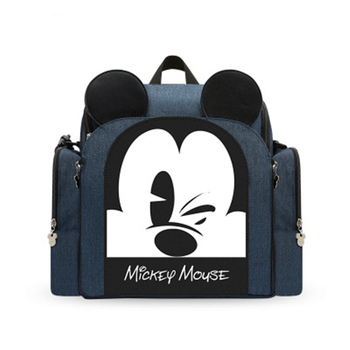 Disney  Mummy Bag mickey Diaper bag Multifunctional Large Capacity Baby Out Portable Stool Type Travel Backpack