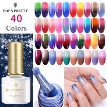 BORN PRETTY, термальный мерцающий гель для ногтей, мерцающий блеск, 3 цвета, меняющий Цвет температуры, УФ-Гель-лак, лак, отмачиваемый