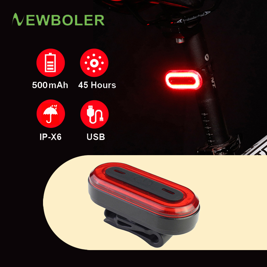 2019 New 120 Lumens USB <font><b>Rechargeable</b></font> Bicycle Rear <font><b>Light</b></font> Cycling LED Taillight MTB Road <font><b>Bike</b></font> Tail <font><b>Light</b></font> <font><b>Back</b></font> Lamp for Bicycle image