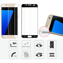 Premium 2.5D Curved Tempered Glass Screen Protector for Samsung S3 S4 S5 S6 S7 A3 A5 A7 A9 2016 2017 Full Protection Film Cover(China)