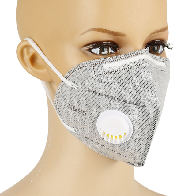Hot selling 10pcs KN95 Face Masks Dust Respirator Mouth Masks Adaptable Against Pollution Breathable Mask Filter with valve 2